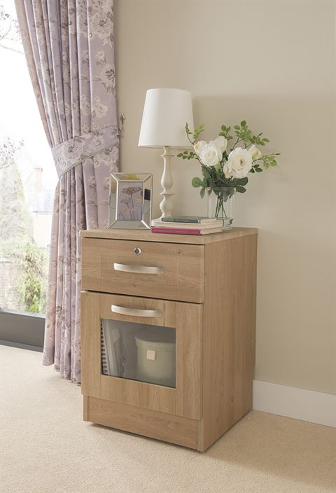 Boston Dementia Perspex Viewing Panel Bedside Cabinet