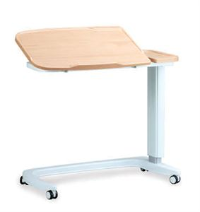 Picture of Enterprise tilting overbed table\chair, Beech with plastic base cover