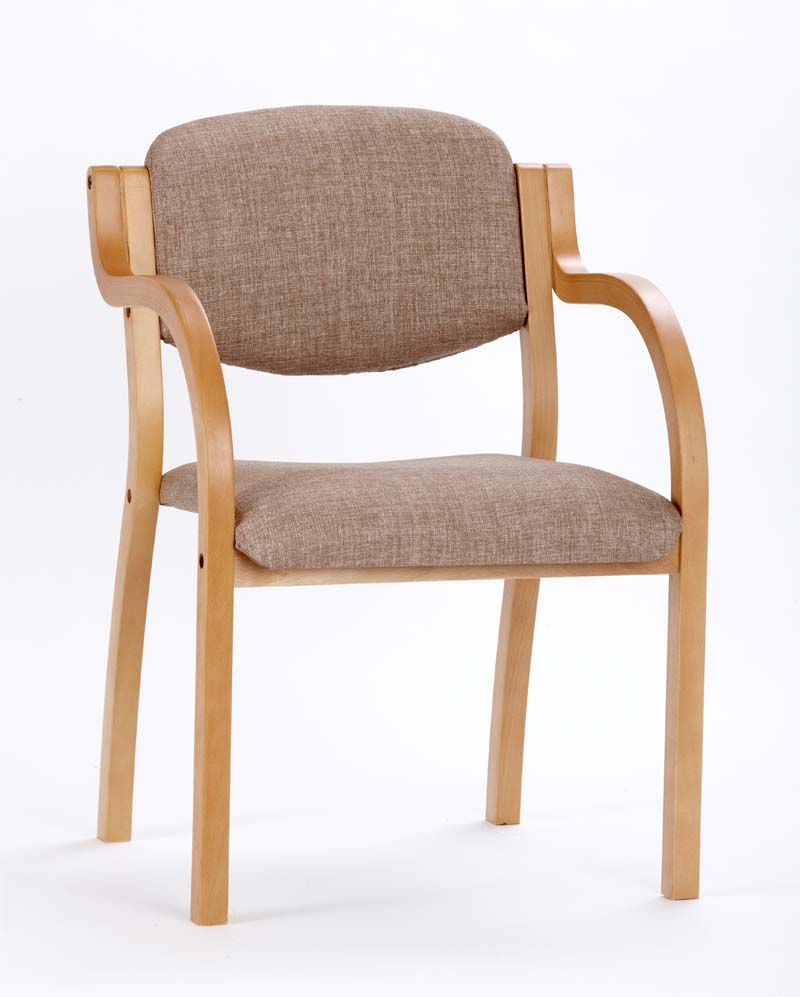 Finland stacking chair with curved arms renray healthcare