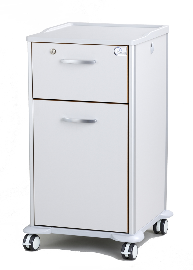 Enterprise 2 Drawer Patient Bedside Locker Renray Healthcare
