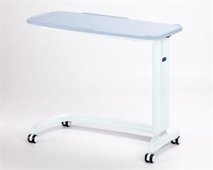 Picture of Enterprise non tilting overbed table\chair in Blue with moulded base cover