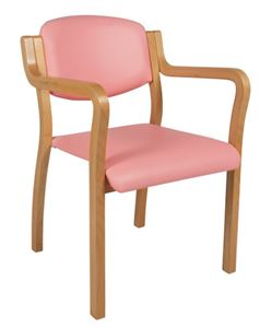 Picture of Finland stacking chair with straight arms