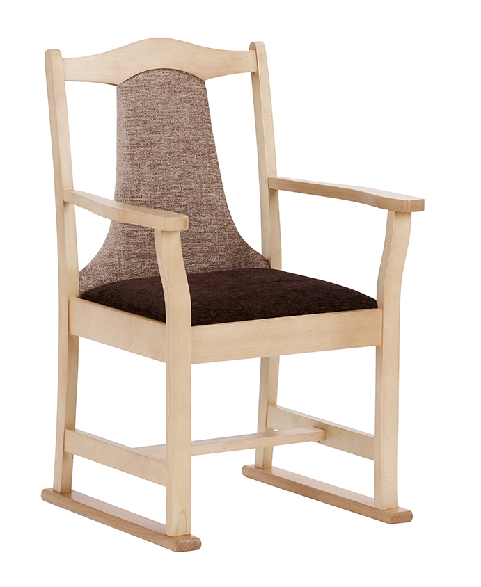 Classic Dining Chair With Arms U0026 Skids
