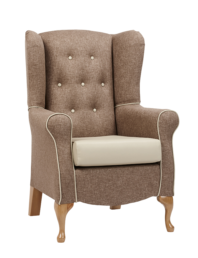Windsor High Back Chair With Buttons Queen Anne Leg