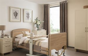 Picture of Elite 4 Section Profiling Bed including full length wooden side rails
