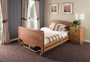 Picture of Elite 4 section, 4 foot wide bed including full length wooden side rails