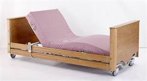 Picture of Carer 4ft Wide Standard Profiling Bed w/ Lock Down Side Rail Facility & Padded Headboard